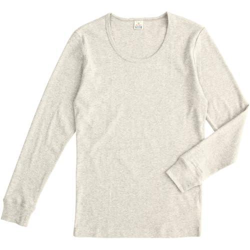 (ヘルスニット)HEALTHKNIT Long Sleeve T-shirts HT-002  HEATHER GRAY M