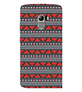 PrintDhaba Tribal Pattern D-5470 Back Case Cover for LENOVO VIBE X3 LITE (Multi-Coloured)