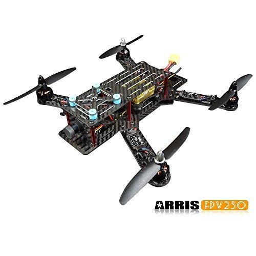 ARRIS FPV250 FPV 250Mini RC Racing Drohne, Karbon, Quadcopter, aufgebaut