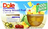 Dole Fruit Bowls, Cherry Mixed Fruit, 4 count cups (pack of 6)