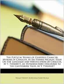 essays on geoffrey chaucer