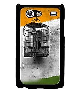 ColourCraft Cage Design Back Case Cover for SAMSUNG GALAXY S ADVANCE I9070