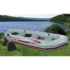 Buy INTEX Mariner 4 Inflatable Raft River Lake Dinghy Boat Set by Intex