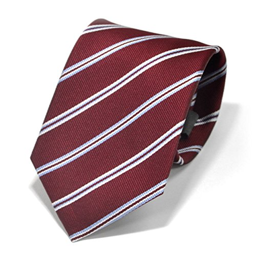 (スミスアンドスコット) Smith & Scott 全9柄 メンズ ビジネス ジャガード織 シルク 100% ネクタイ ストライプ柄 ネイビー グレー ボルドー ntjaw-25 タイプ12 03