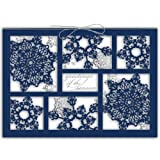 Blue Snowflakes Holiday Cards