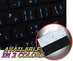 MAC POLISH - ENGLISH NON-TRANSPARENT DECALS FOR KEYBOARD BLACK OR WHITE BACKGROUND FOR DESKTOP, LAPTOP AND NOTEBOOK (CG) (Black Background)
