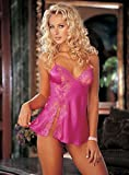 51CGu3Flq0L. SL160  Womens Babydoll Charm Lace (Pink;Large)