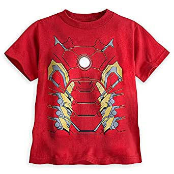 Disney Store Avengers Iron Man Costume Tee T-Shirt Boys
