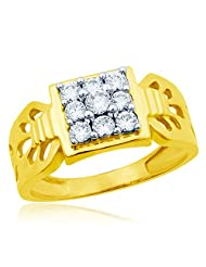 Eldora 18 Kt Gold Plated With American Diamond Ring For Men(PGR00281-A)