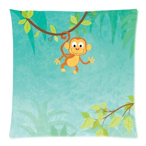 Personalized Standard Size Pillowcase For Kid/Child - Lovely Monkey Pillowcase Twin Sides 18X18 front-12388