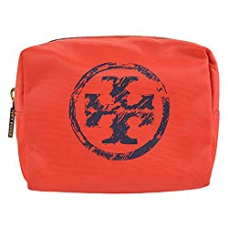 Tory Burch Trompe Brigitte Cosmetic Case Orange