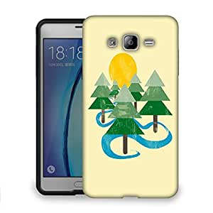 Snoogg Christmas Tree Designer Protective Back Case Cover For SAMSUNG ON 7