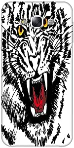 Snoogg Sketch Of White Tiger Vector Illustration Designer Protective Back Cas...