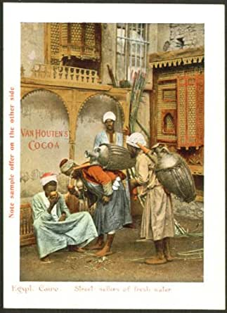 Water Sellers Egypt Van Houten's Cocoa trade card 1890s at Amazon's