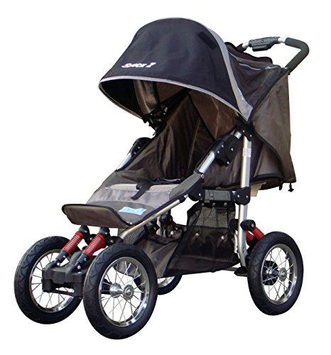 BeBeLove USA Deluxe Jogging Stroller, Gray