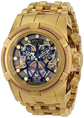 Invicta Men's 12902 Bolt Analog Display Swiss Quartz Gold Watch