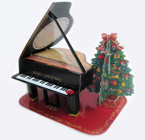 Baby Grand Piano Christmas Melody Card - 16 Christmas