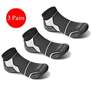 3 Pairs More Mile New York Cushioned Sports Running Socks