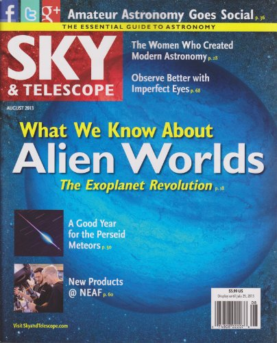 Sky & Telescope Magazine August 2013