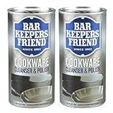 (2 Pack) Bar Keepers Friend COOKWARE Cleanser & Polish Powder - 12 Oz. Each Can