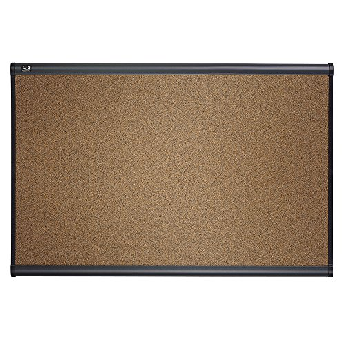 Quartet Prestige Colored Cork Bulletin Board, 3 x 2 Feet, Graphite Finish Frame (B243G)