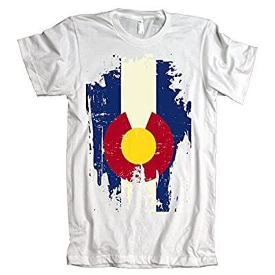 Vintage Colorado State Upside Down Flag American Apparel T-Shirt