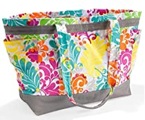 Thirty One 4093 Easy Breezy Tote Island Damask
