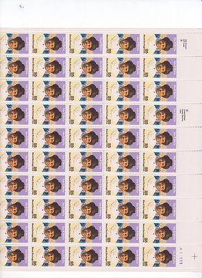 Ida B. Wells Sheet of 50 x 25 Cent US Postage Stamps NEW Scot 2442