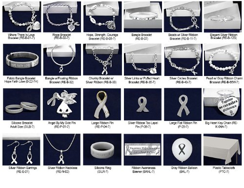 Gray Ribbon Jewelry Fundraising Kit (298 Items)