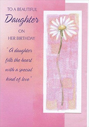 Popular birthday wishes cards for daughter tall daisy with glitter tall daisy with glitter in white frame die cut daughter designer greetings birthday card bookmarktalkfo Gallery
