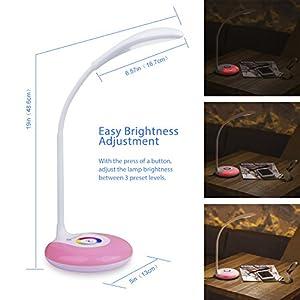 Etekcity living color led table lamp touch control color changing etekcity living color led table lamp touch control color changing base adjustable brightness light white aloadofball Gallery