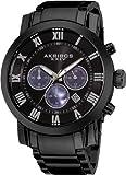 """Akribos XXIV Men's AK622BK """"Grandiose"""" Stainless Steel Watch"""