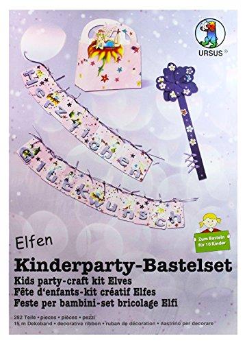 24400099 - Kinderparty Bastelset Elfen  282 Teile  zum Basteln für 10 Kinder
