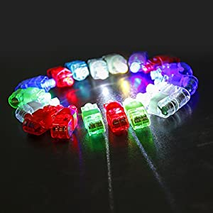Etekcity® Colorful LED Finger Lights Light-up Rings Gadgets Toys for Kids Parties Christmas and other Festival Days(80 pcs)