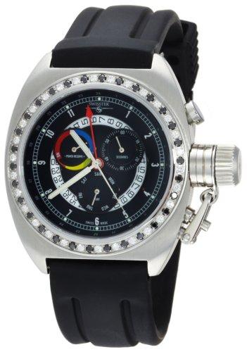 Swisstek Men's SK68818G Jet-setter Limited Edition Diamond Watch