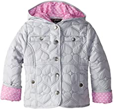 YMI Little Girls39 Heart Quilted Polyester Jacket with Hood