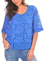 Scarlet Jones Blusa Sylvie (Azul Royal)