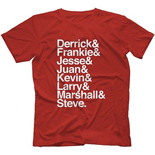 Detroit Techno & Chicago House Legends T-Shirt 100% Cotton | Frankie Knuckles[XL,Red]