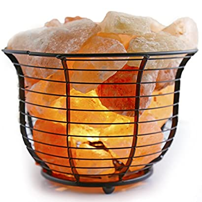Authentic Crystal Allies Natural Himalayan Salt Lamps and Candle Holder Combo