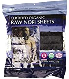 Raw Organic Nori Sheets 50 qty Pack! - Certified Vegan, Raw, Kosher Sushi Wrap Papers - Premium Unheated, Un Cooked, untoasted, dried - RAWFOOD