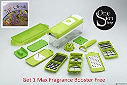 Famous Magic Dicer Plus, Unbreakable Vegetables and Fruits Slicer Chippers, Chopper + 1 Fragrance Booster (With 3 Months warranty)