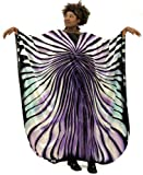 Shimmering Zebra Print Caftan Kaftan with Matching Headwrap - Available in Several Fashion Colors