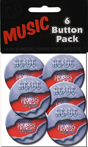 "C&D Visionary AC/DC Razor's Edge 1 1/2"" Button (6-Piece) - 1"