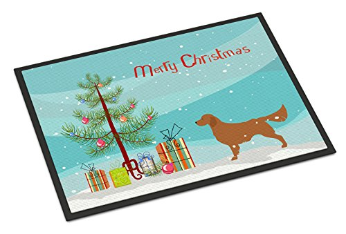 Caroline's Treasures BB2922JMAT Golden Retriever Merry Christmas Tree Indoor or Outdoor Mat, 24