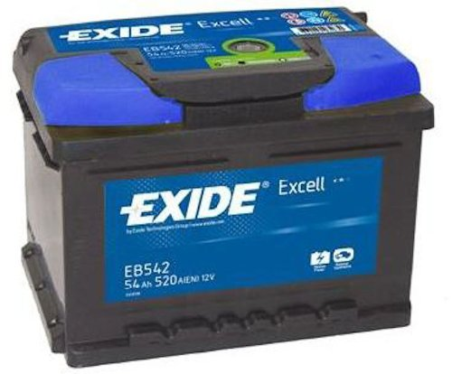 Exide Excell EB542 54Ah Autobatterie wartungsfrei