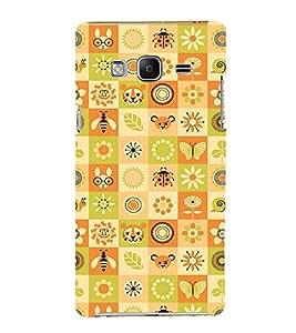 Fuson Premium Printed Hard Plastic Back Case Cover for Samsung Z3