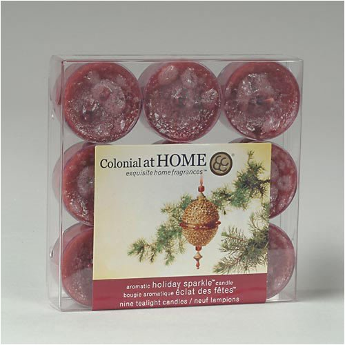 Colonial Candle Holiday Sparkle Scented Tealight Candles