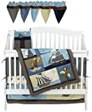 NoJo Ahoy Mate 6 Piece Crib Bedding Set