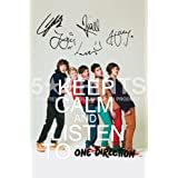 "One Direction Keep Calm And Carry On 12x8"" Poster Photo Signed PP x5 Niall Horan Harry Styles Zayn Louis Liam Perfect Giftby One Direction"