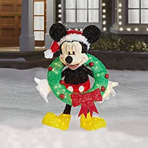 30 lighted mickey mouse with wreath for Amazon christmas lawn decorations